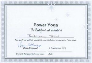 Certificat Power Yoga